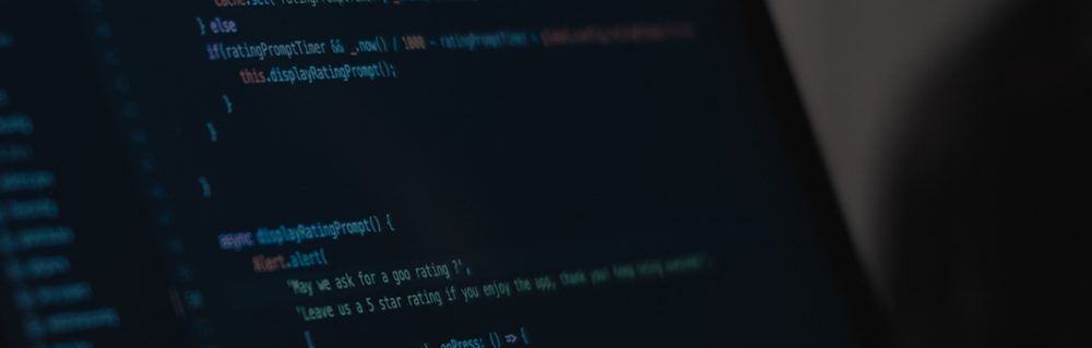 Code on a laptop screen