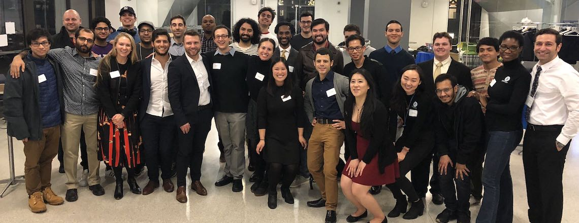 Group of Columbia Engineering Boot Camp students dressed professionally